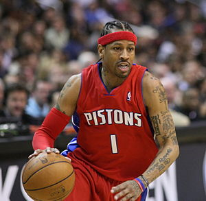 Allen Iverson, of the National Basketball Asso...
