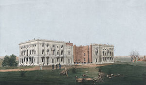 The United States Capitol after the burning of...
